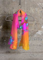 Cashmere Silk Scarf - Splash floral by VIDA VIDA kUjj45P8z