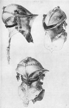 Frog-mouth helm (or Stechhelm) used by mounted knights between the 14th and 17th centuries.
