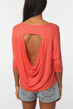 draped back sweater