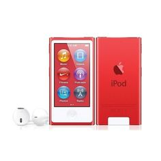 Apple (PRODUCT)RED iPod nano - Apple contributes a portion of the purchase price to the Global Fund to fight AIDS, translating into 25 days of life-saving medication.