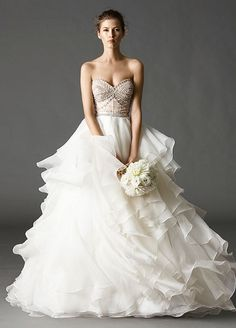 10 Wedding Bling Ideas That Are SO Major: Radiant Wedding Dresses. Dress by Watters Bridal