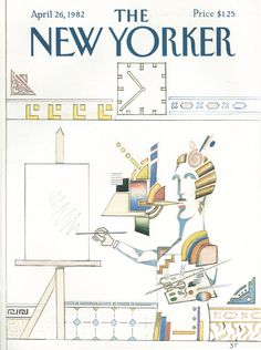 The New Yorker - Monday, April 26, 1982 - Issue # 2984 - Vol. 58 - N° 10 - Cover by : Saul Steinberg