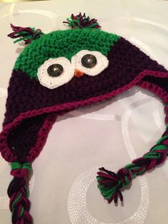 Crotchet owl hat
