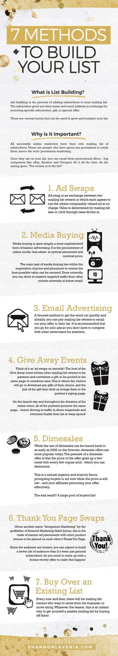 Here's 7 creative ways to get more subscribers on your email list. Go beyond…