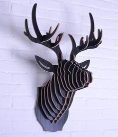 Wooden deer Head Wall Hangings Decoration,deer head for home decoration,wooden crafts wall art,wood elk head,mdf obejects,gifts-in Crafts fr...