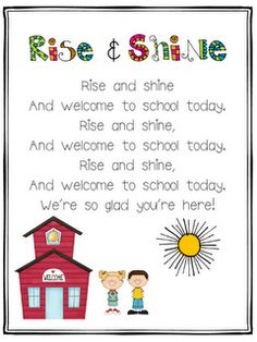 Classroom Freebies: Welcome to School Today! Kindergarten Songs, Preschool Music, Preschool Classroom, Preschool Activities, Preschool Transitions, Preschool Projects, Preschool Age, Daycare Crafts, Music Activities