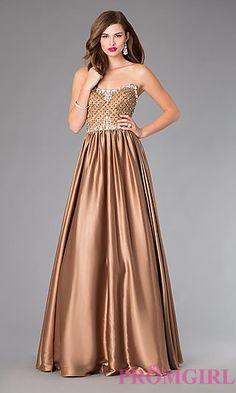 Floor Length Strapless Johnathan Kayne Dress at PromGirl.com