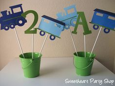 Train Party Centerpieces Table Decorations by sweetheartpartyshop, $10.00