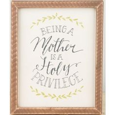 Gift of Motherhood Framed Wall Art