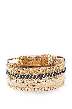 ESPRIT CASUAL Mehrreihiges Armband mit Glasperlen