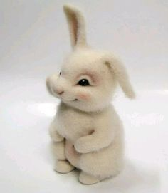 DIY Cute Wool Rabbit