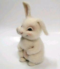 DIY Cute Wool Rabbit