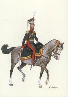 Duchy of Warsaw; 8th Uhlan Regiment, Colonel commanding Regiment, Prince Dominik Radziwill   1810-12 by R.Morawski