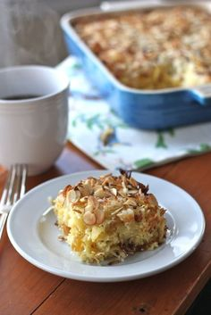 I'm not Jewish, Catholic or Christian but I love bunnies and I love Kugel so I'm having this on Easter! Coconut Almond Kugel