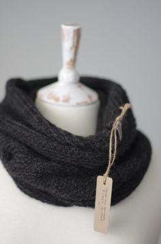 Crochet By Hand Alpaca Infinity Scarf. Eco by KnockKnockLinen