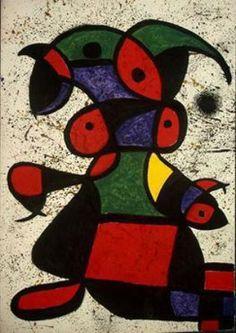 'Mujer 3', öl von Joan Miro (1893-1983, Spain)