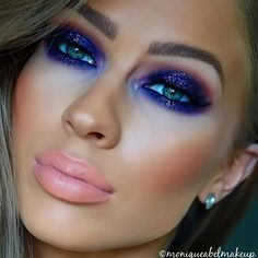 Peacock inspired dramatic eye makeup ideas If you want to try a different eye makeup look, maybe you can skip your usual smoky eye makeup, and try some a little more impressive. Peacock Eye Makeup, Dramatic Eye Makeup, Purple Eye Makeup, Smoky Eye Makeup, Eye Makeup Art, Colorful Eye Makeup, Dramatic Eyes, Eye Makeup Tips, Glitter Makeup