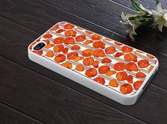 IPhone 5 case IPhone 4 case red poppy flower Hard by Atwoodting, $9.99