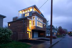 Musician's Dwelling - Portland, Oregon. modern house - sustainable - modernist design - A design build collaboration between Departure Design, Hammer and Hand, and the architect/client - wired for a future Accessory Dwelling Unit.