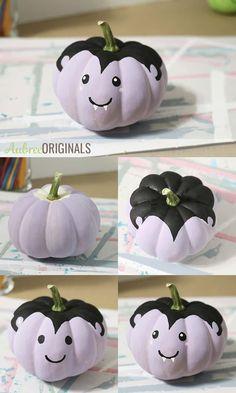 Cute Halloween Decorations, Halloween Arts And Crafts, Halloween Fun, Painted Pumpkins, Fake Pumpkins, Painted Pumpkin Faces, Painted Halloween Pumpkins, Cute Painted Pumpkin Ideas, Cute Pumpkin Faces
