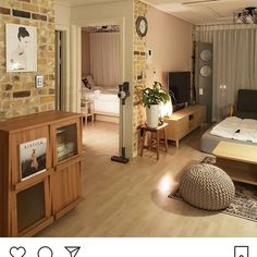 Image in Home design 🏠💛 collection by Apartment Interior, Apartment Design, Room Interior, Interior Design Living Room, Seoul Apartment, Korean Apartment, Small Room Bedroom, Bedroom Decor, Bohostyle