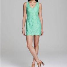 Joie Rori Lace Mini Sheath Sleeveles V-Neck Dress