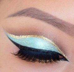 #Heavenly Mineral Eye Pigment, e Preciosa Precision Eyeliner, Fibra 3D Lash #Mascara poderia duplicar este olhar.  por luz