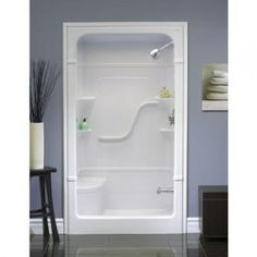 Merveilleux For Basement Bathroom   Mirolin   Madison 4 Shower Stall With Seat     Home  Depot Canada
