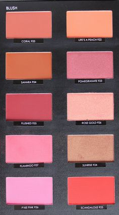 Complete Sleek Blush Swatches - I adore sleek blushes! I often refer to them as the budget verison of nars. they are just such a steal and some are just as pigmented, vibrant and have a lot of longevity wear too. impressive UK brand - I buy from amazon