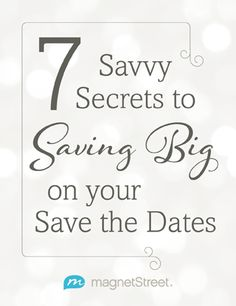 Cheap Save the Date Ideas -- great ideas for saving money on your save the dates!