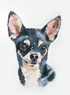 custom pet portrait in watercolor original door wetnosewatercolours, £39.50