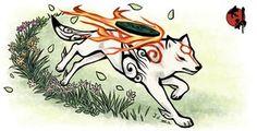 Okami - Amaterasu - Fire - White Wolf - Running