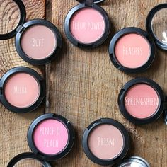 Mac blushes in Buff, Fleur Power, Peaches, Spingsheen, Prism, Pinch O' Peach and Melba. Perfect for spring and summer.