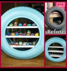 Got too many toy cars and matchbox cars? Check out these 11 genius hot wheels display ideas - they double as storage and organization but they are also beautiful as playroom decor! Toy Car Storage, Matchbox Car Storage, Matchbox Cars, Hot Wheels Display, Hot Wheels Storage, Toy Shelves, Disney Rooms, Disney Cars Room, Kid Furniture