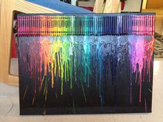 Melted Crayon Art Standard by thecakefashionista on Etsy