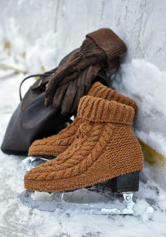 tru-knitting: Чехлы на коньки - катаемся как профи