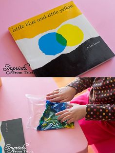 The kiddos love this story extension activity from this charming little book by Leo Lionni! Also, a great way to experience color mixing hands on!