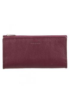 Pierre Cardin Womens RFID Proteced Italian Leather Slim Purse Wallet - Plum -PC9130