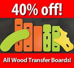 40% off All Wood Transfer Boards in Stock plus FREE SHIPPING! Visit http://ajuvoworldmarket.com/  Offer ends January 31, 2014.