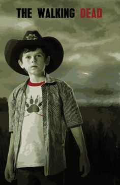 The Walking Dead Carl...A.J so can be carl for Halloween and the rest Zombies...