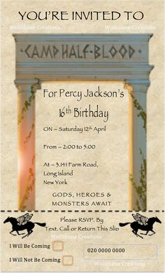 Ultimate Percy Jackson Party Pack Instant by WolfsbaneCreations