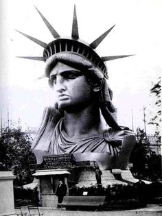 Charles Marville - Statue of Liberty under construction (Display of Statue of Liberty at the 3rd Universal Exhibition, Paris), 1878.