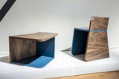 Gwénaëlle Follézou - Ninety°, euble modulable passant d'une fonction de chaise à celle de table par simple rotation de 90°
