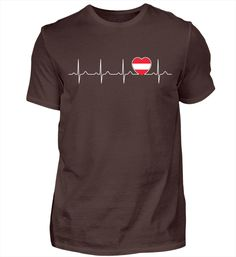Mein Herz schlägt für Österreich - Wien T-Shirt Basic Shirts, Mens Tops, T Shirt, Cat T Shirt, Heart, Supreme T Shirt, Tee, Tee Shirt