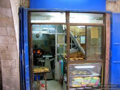 A bakery in the Jewish Quarter of the Old City of Jerusalem. I want to eat all that bread!