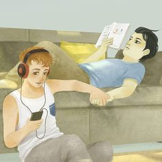 Simon and Baz // HES READING ELEANOR AND PARK OMG