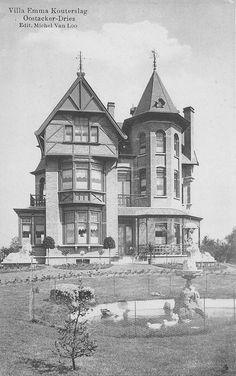 Villa Emma Kouterslag: zo zag de villa eruit toen hij spiksplinternieuw was en de tuin nog niet echt de tuin was ...