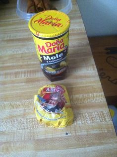 You can find these items at Walmart or at any Hispanic store. You only need half of the chocolate circle and the full glass of Dona Maria's Mole.