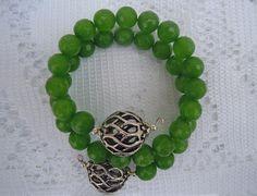 Bracciale con agata verde