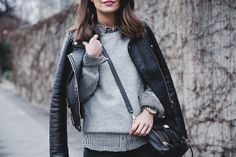 Check_Shirt-Grey_Knitwear-Black_Jeans-Chained_Booties Street_Style-Outfit-by-36 collagevintageblog, via Flickr